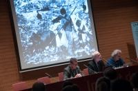 Presentació de les I Jornades de Fotografia Social amb Eduard Bertran, director de l'IEFC, i Jordi Folgado, director general de la Fundación Vicente Ferrer. Foto Juan Ruz