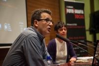 Eduard Bertran (Director de l'IEFC) presentant a la ponent Laetitia Guillemin. © Joan Ribó