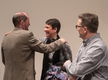 Ángel López Soto, Núria López Torres i Eduard Bertran. Foto: Ricard Novella.